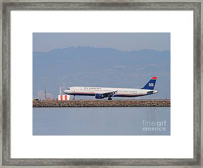Us Airways Jet Airplane At San Francisco International Airport Sfo . 7d11982 Framed Print by Wingsdomain Art and Photography