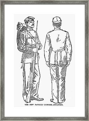 U.s. Army: Fatigues, 1882 Framed Print by Granger