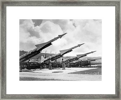 U.s. Army Missiles, C1965 Framed Print by Granger