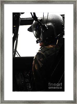 U.s. Army Officer Speaks To A Pilot Framed Print by Stocktrek Images