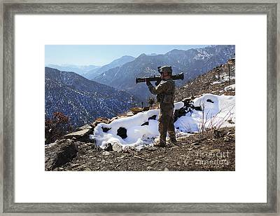 U.s. Army Soldier Prepares To Fir Framed Print by Stocktrek Images