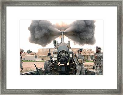 U.s. Army Soldiers Conduct Framed Print by Stocktrek Images