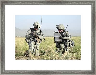 U.s. Army Soldiers Patrol Framed Print