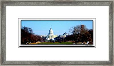 Framed Print featuring the photograph U.s. Capitol Building by Danielle  Parent