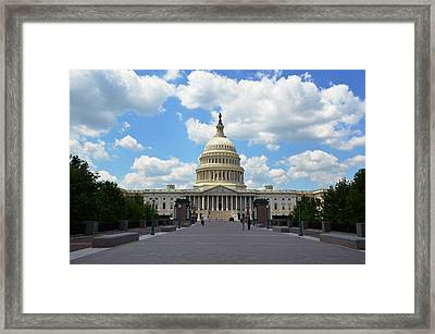 Framed Print featuring the photograph Us Capitol by Pravine Chester