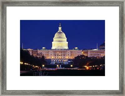 U.s. Capitol Framed Print by Shelley Neff