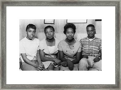 Us Civil Rights. From Left High School Framed Print by Everett