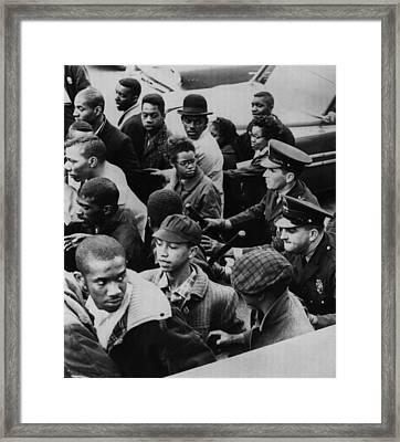 Us Civil Rights. Police Dispersing Framed Print
