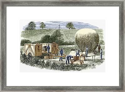 Us Civil War Observation Balloon Framed Print