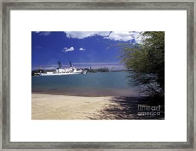 U.s. Coast Guard Cutter Jarvis Transits Framed Print