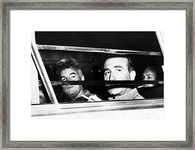 U.s. Communist Leaders Are Taken Framed Print by Everett