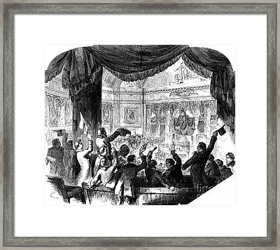 U.s. Congress: House, 1856 Framed Print by Granger