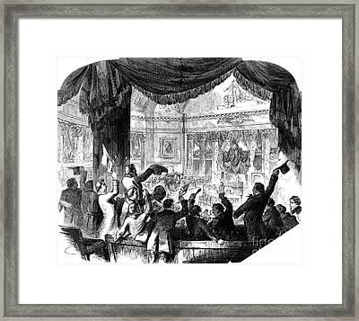 U.s. Congress: House, 1856 Framed Print