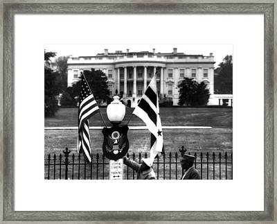 Us & District Of Columbia Flags Framed Print