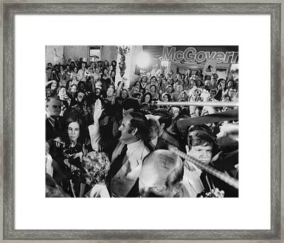 Us Elections. Center, Waving George Framed Print