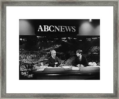 Us Elections. From Left Frank Reynolds Framed Print by Everett