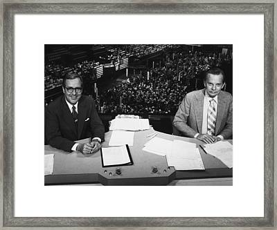 Us Elections. From Left John Chancellor Framed Print