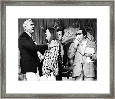 Us Elections. From Left Lorne Greene Framed Print by Everett