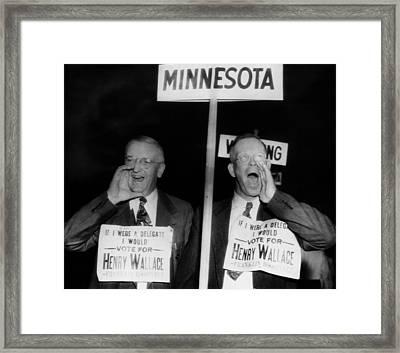 Us Elections. From Left  Minnesota Framed Print by Everett