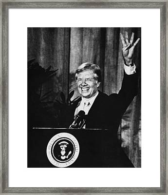 Us Elections. Us President Jimmy Carter Framed Print by Everett