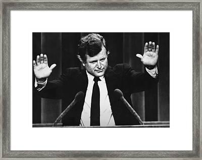 Us Elections. Us Senator Edward Kennedy Framed Print by Everett