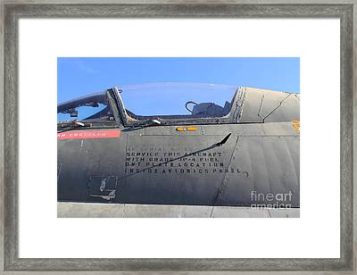 Us Fighter Jet Plane . 7d11295 Framed Print by Wingsdomain Art and Photography