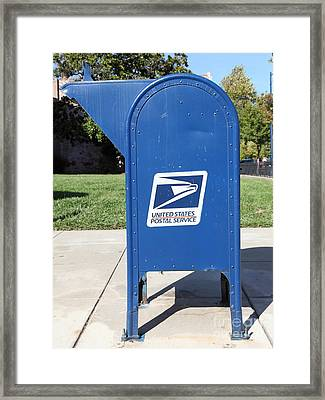 Us Mail Box . 5d18813 Framed Print by Wingsdomain Art and Photography