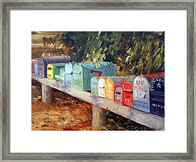 Us Mail San Francisco Framed Print by Roelof Rossouw