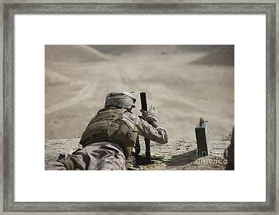 U.s. Marine Clears A Pk General-purpose Framed Print by Terry Moore