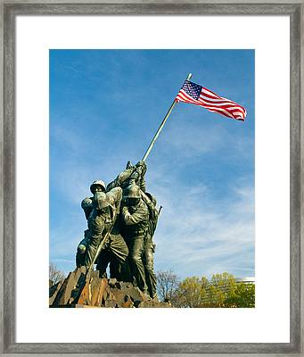 U.s Marine Corps Memorial Framed Print by Dan Wells