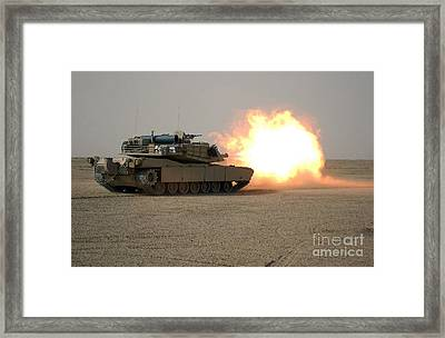 U.s. Marine Corps Personnel Fire Framed Print by Stocktrek Images