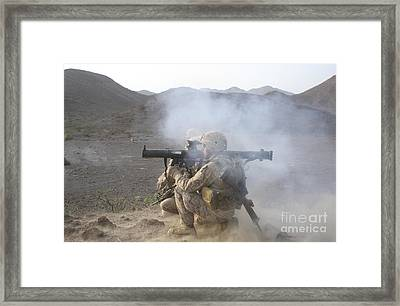 U.s. Marine Launches A High-explosive Framed Print by Stocktrek Images