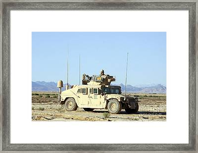 U.s. Marine Standing Ready Framed Print by Stocktrek Images