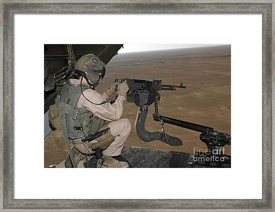 U.s. Marine Test Firing An M240 Heavy Framed Print
