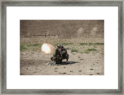U.s. Marines Fire A Rocket-propelled Framed Print