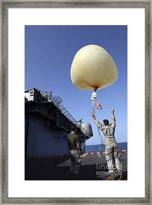 U.s. Marines Launch A Combat Skysat Framed Print by Stocktrek Images
