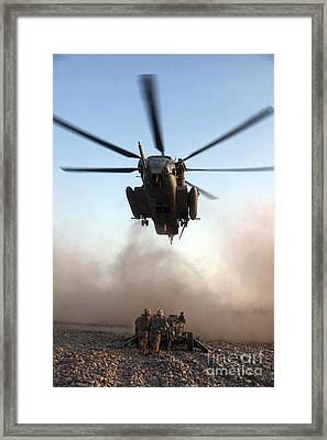 U.s. Marines Preparing To Attach An Framed Print by Stocktrek Images