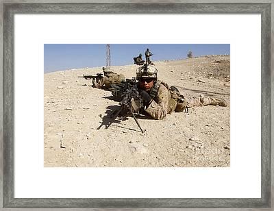 U.s. Marines Provide Security Framed Print by Stocktrek Images