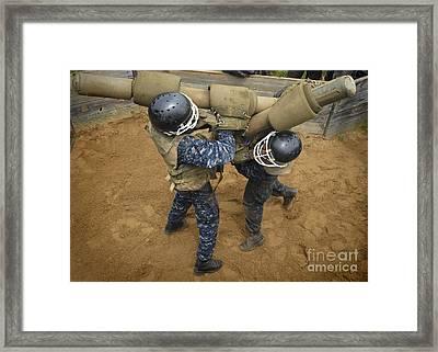 U.s. Naval Academy Plebes Compete Framed Print by Stocktrek Images