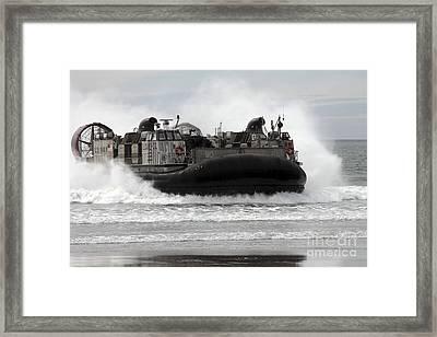 U.s. Navy Landing Craft Air Cushion Framed Print by Stocktrek Images