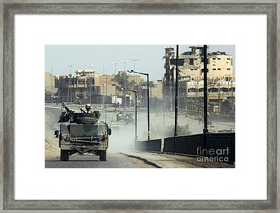U.s. Navy Seabees Patrol The Streets Framed Print by Stocktrek Images
