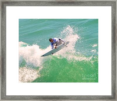 Us Open Of Surfing 2012       12 Framed Print by Jason Waugh