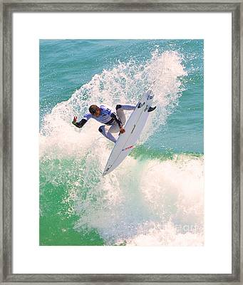 Us Open Of Surfing 2012      10 Framed Print by Jason Waugh
