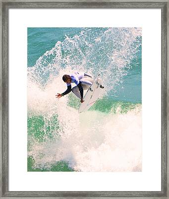 Us Open Of Surfing 2012     11 Framed Print by Jason Waugh
