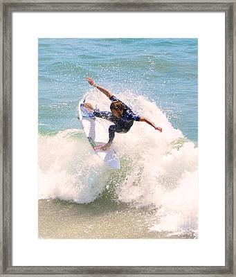 Us Open Of Surfing 2012      4 Framed Print by Jason Waugh