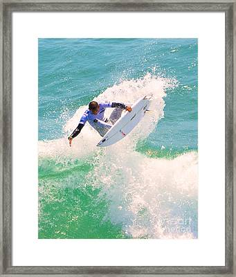 Us Open Of Surfing 2012    9 Framed Print by Jason Waugh