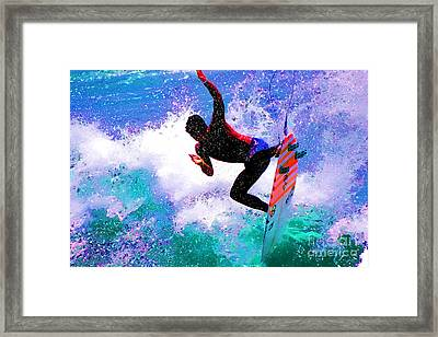 Us Open Of Surfing 2012 Framed Print