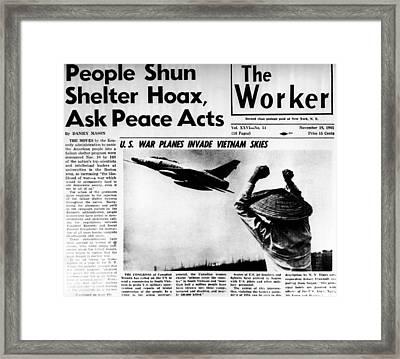 Us Planes Invade Vietnam Skies. An Framed Print by Everett