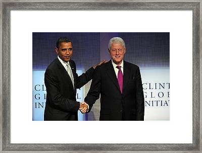 U.s. President, Barack Obama, Former Framed Print