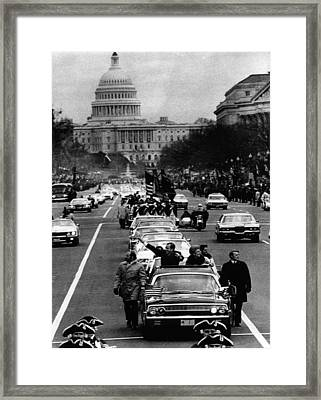 U.s. President Richard Nixon And First Framed Print by Everett